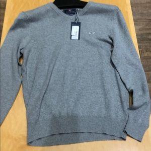 Vineyard Vines Mens Garment Dyed V-Neck Sweater